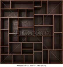 Dark Bookcase Light Bookcase Shelves Isolated On White Stock Illustration