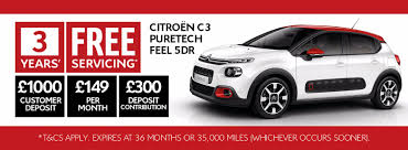 new citroen c3 3 years free servicing available on all new citron c3 bcc cars