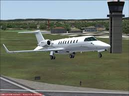 metallic silver learjet 45 for fsx