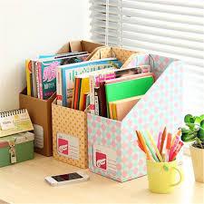 Acheter Diy Document Library Books Bureau Magazine Boîte De Boite De Rangement Bureau