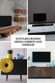 10 stylish modern media cabinets and consoles digsdigs