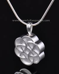 urn pendant silver celtic memorial jewelry and flowered keepsake