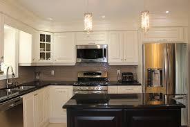 white kitchen with black island toronto and thornhill custom transitional kitchen design
