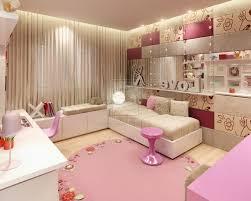 pink bedroom furniture sets purple fur rug beside metal stairs bed