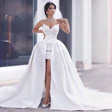 high wedding dresses fashionable 2017 high low lace wedding dress v neck