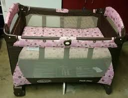 Pink And Brown Graco Pack N Play With Changing Table Graco Pack N Play Pink Brown Flowers 40 Baby In Peoria Az