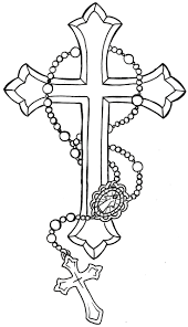 beaded necklace tattoo images Rosary bead drawing at free for personal use jpg