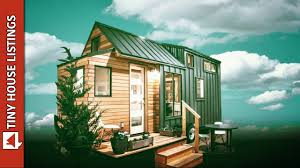 high end tiny house with folding deck youtube