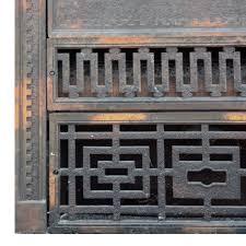 magnificent antique cast iron fireplace cover u0026 surround japanned