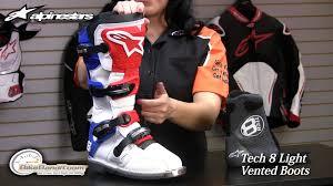 Alpinestars Tech 8 Light Vented Boots At Bikebandit Com Youtube