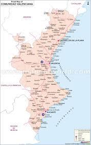 Benidorm Spain Map by Comunidad Valenciana Road Map