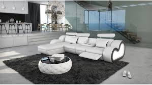 canape avec meridienne canapé d angle design en cuir avec éclairage atco gdegdesign