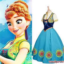 Lionel Messi Halloween Costume Disney Frozen Fever Anna Dress Cosplay Halloween Costume Deluxe