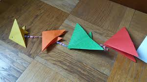 easy origami ocean garland you can make with your kids