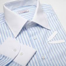 striped blue dress shirt with white collar and cuff buy