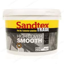 sandtex trade high cover smooth 10l brilliant white