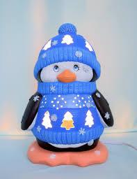 ceramic penguin lighted penguin penguin night light in