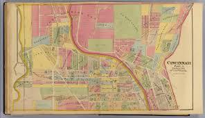 Map Of Cincinnati Cincinnati 10 Wards 12 18 David Rumsey Historical Map Collection