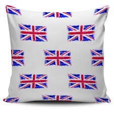 Blue Union Jack Cushion Pillow Cushion Covers Forest Views
