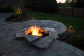 Unique Fire Pits by Landscaping Project In Mequon Wisconsin Treetops Landscape