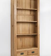westbury oak tall bookcase bookcases wood bookcase shelves