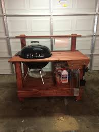 how to build a weber grill table homemade wooden grill table