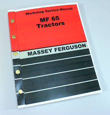 massey ferguson mf 65 tractor service manual technical repair shop