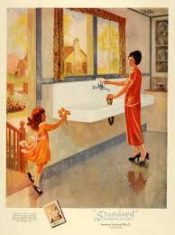 1925 ad standard sanitary plumbing fixtures kitchen mom original