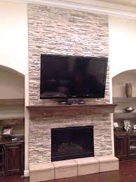 stone fireplace color ideas wall mantel image stacked tile gray