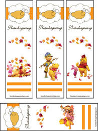 bookmarks thanksgiving pooh 2 thanksgiving bookmarks free