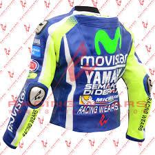 leather motorcycle racing jacket racing wears valentino rossi yamaha movistar motogp 2016 motorbike