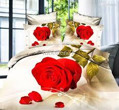 Good Bed Sheets 2016 Fashiong Nice Night Roupa De Cama 3d Bedding Set Red Rose