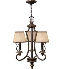 Bronze Chandelier With Shades Hinkley 4243ob Plymouth 3 Light 18 Inch Olde Bronze Chandelier