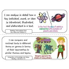 grade common core standards posters i can statements math u0026 ela