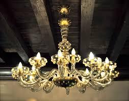murano glass chandelier in a hotel in venice acqua hotel venice