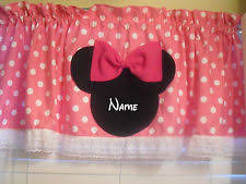 Minnie Mouse Bowtique Curtains Disney Curtains Drapes And Valances Ebay