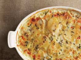 pescatarian thanksgiving recipes potato u0026 celery root gratin with leeks recipe epicurious com