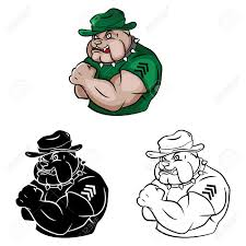 livre à colorier personnage de dessin animé de sécurité bulldog