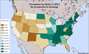 Rhode Island On Map Comparing The Tornadoes Of 2012 To Average And To 2011 U S