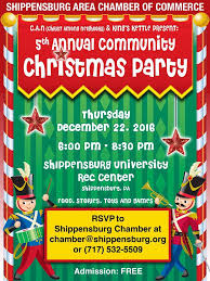 5th annual shippensburg community christmas party december 22