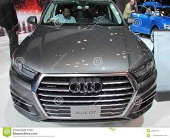 suv audi grey suv audi q7 editorial image image of yellow success 68817475
