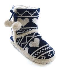 womens navy boots uk womens slipper boots booties slippers knitted or fleece