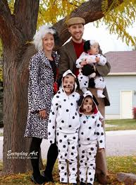 Dalmatian Costume Everyday Art Diy Family Halloween Costume 101 Dalmations