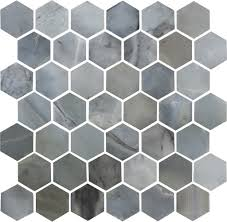 2 inch hexagon polished ice blue marble mosaic tile u2013 deko tile