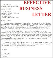 writing effective business letters the letter sample