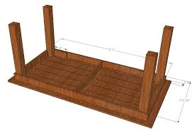 attaching legs to a table bryan s site diy cedar patio table plans