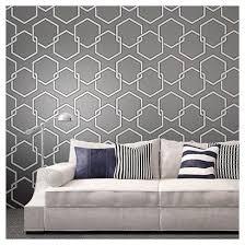 peel off wallpaper tempaper self adhesive removable wallpaper honeycomb gray dark