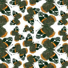 admiral butterfly pattern mixed media by katerina kirilova