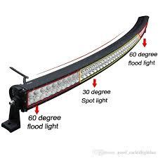 60 inch led light bar 52 inch 400w curved led light bar working fog roof l flood spot