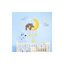 stickers nounours chambre bébé deco chambre bebe theme etoile chambre fille stickers